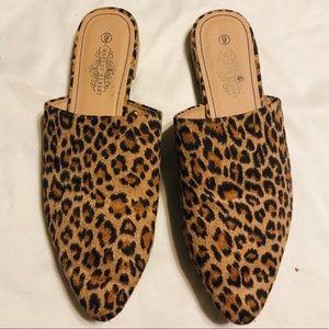 Charles Albert | Leopard Mules | Size 9